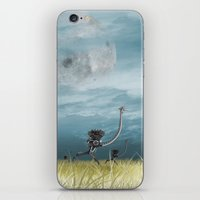 runner iPhone & iPod Skins featuring Runner by Tony Vazquez