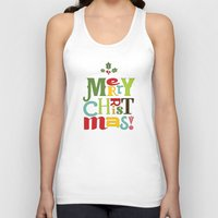 merry christmas Tank Tops featuring Merry Christmas! by Noonday Design