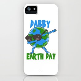 Dabby Earth Day Cute Happy Earth Day design iPhone Case