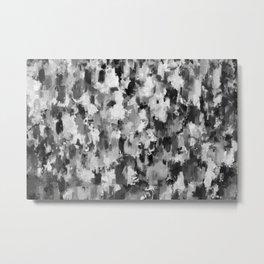 black and white pattern - paint brush design Metal Print