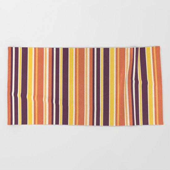 Happy Vertical LInes Beach Towel