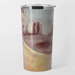 Desert landscape by pastel Travel Mug