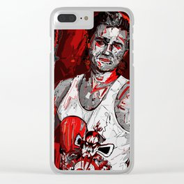 Jack Burton Tribute (Red Version) Clear iPhone Case