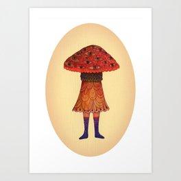 The Mushroom Princess Art Print