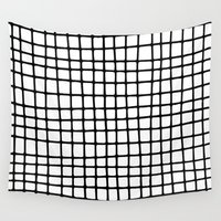 grid Wall Tapestries featuring Grid by Krissia Thaiane