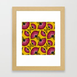 African Floral Motif Framed Art Print