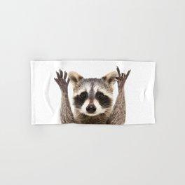Rock Raccoon Hand & Bath Towel