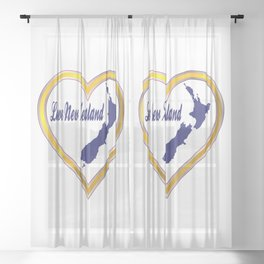 Love New Zealand Silhouette Sheer Curtain