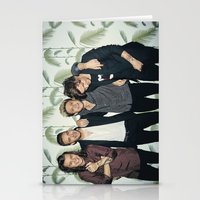 one direction Stationery Cards featuring One Direction by behindthenoise