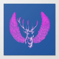 Winged Pink Deer Canvas Print