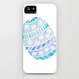 Easter Egg in Blue and Teal iPhone Case