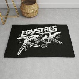 Crystals ROCK! Rug