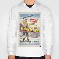skiing Hoodies featuring SKIING by Kathead Tarot/David Rivera