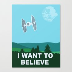 I WANT TO BELIEVE - Star Wars Canvas Print
