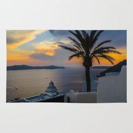 Fira,sunset,Greece Rug