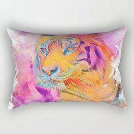 Painterly Animal - Tiger 1 Rectangular Pillow