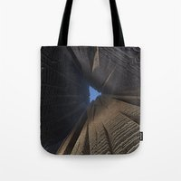 nick cave Tote Bags featuring Cave by GC
