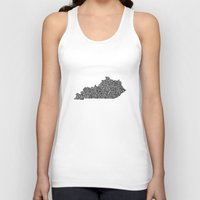 kentucky Tank Tops featuring Typographic Kentucky by CAPow!