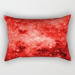 Red Galaxy Sparkle Rectangular Pillow