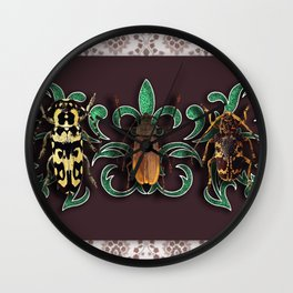TRILOGY BEETLES II Wall Clock