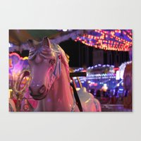 carousel Canvas Prints featuring Carousel by Ellie Rose Flynn