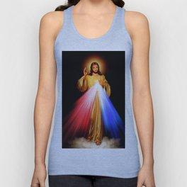 Jesus Divine Mercy I trust in you Religion Religious Catholic Christmas Gift Unisex Tank Top