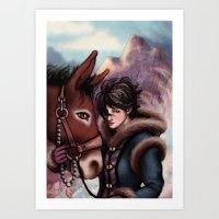The Mountain's Daughter Art Print