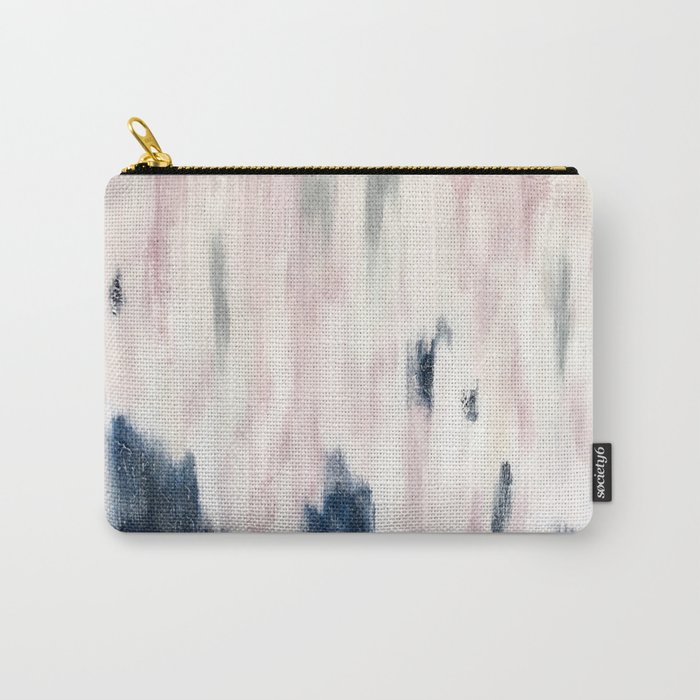 Blush Pink and Blue Pretty Abstract Carry-All Pouch