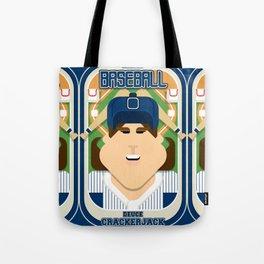 Baseball Blue Pinstripes - Deuce Crackerjack - June version Tote Bag