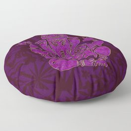 Ganesha Elephant God Purple And Pink Floor Pillow