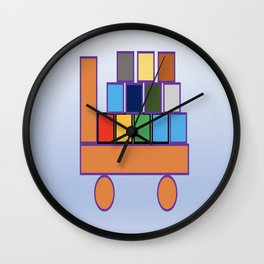 Kiddies Truck With Blocks Wall Clock
