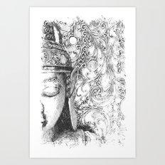 Buddha Sketch Art Print
