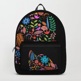 Fancy And Fine Flower Cat Garden Design Backpack