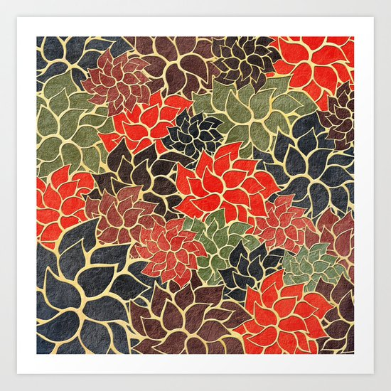 Floral Abstract 17 Art Print