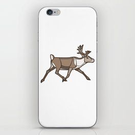 Geometric Reindeer / Caribou iPhone Skin