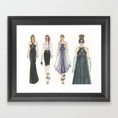 Let's Party! (PaperDolls) Framed Art Print