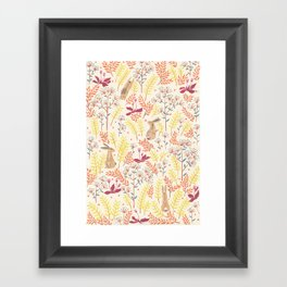rabbits field Framed Art Print