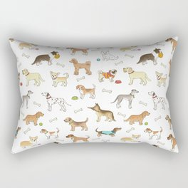 Breeds of Dog Rectangular Pillow