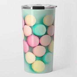 Macarons, macaroons heart, pop art Travel Mug