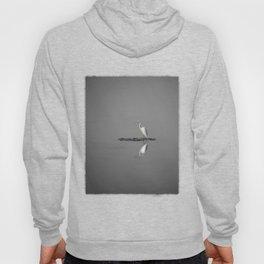 """Mirrored Egret"" by Murray Bolesta Hoody"
