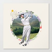 golf Canvas Prints featuring Golf by Oleg Borodin
