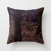 fireflies Throw Pillows featuring fireflies by Lara Paulussen