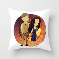firefly Throw Pillows featuring Firefly by Keri Lynne