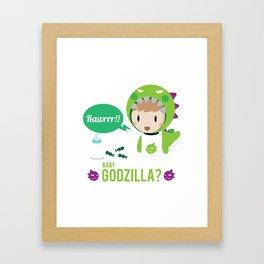 Baby Godzilla Framed Art Print