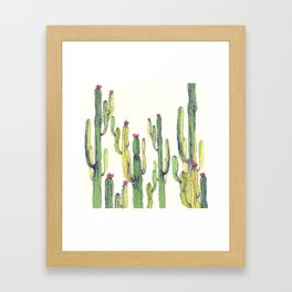 vertical cactus Framed Art Print
