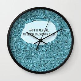 If I Fail Wall Clock