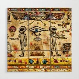 Ancient Aliens Wood Wall Art