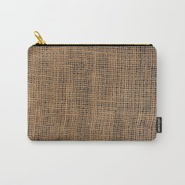 Burlap Grid Carry-All Pouch