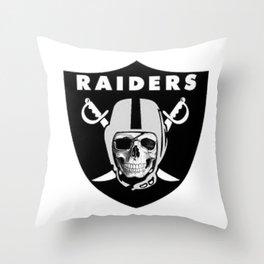 Raider Nation Skull Throw Pillow