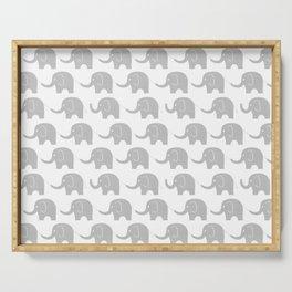 Grey Elephant Parade Serving Tray